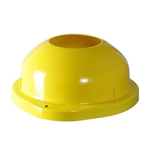 KUEFA Scharnierdeckel mit Einwurf (Ersatzteil ohne Montage-Set) (Gelb)