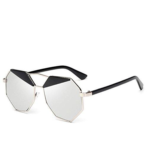 logres 1Paar Fashion Frauen Herren Unregelmäßige Colorful Retro Vintage Sonnenbrille Spiegel Objektiv Cat Eye Sonnenbrille für Damen
