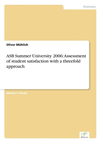 asb-summer-university-2006-assessment-of-student-satisfaction-with-a-threefold-approach