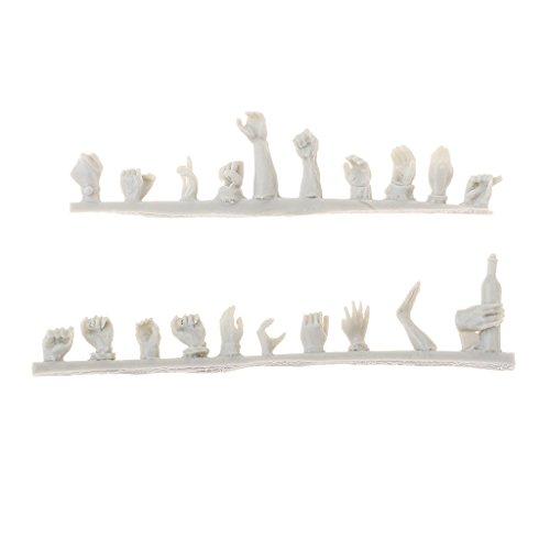 D DOLITY 1/35 Escala Accesorios de Resina de Juguete en Miniatura para Hacer Modelos Modelismo - Mano de soldados