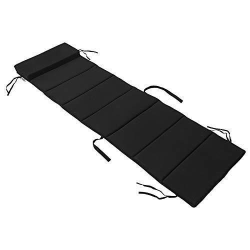 SoBuy® OGS28-P02 Liegen-Auflage Schaukelstuhlkissen Kissenauflage für Gartenliege Schonbezug, schwarz, BH ca.: 170x50cm