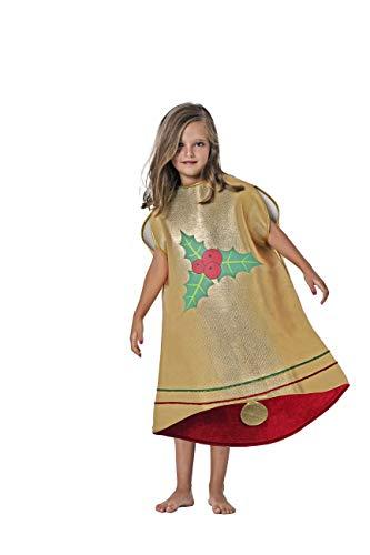 Costumizate! Disfraz Campana Talla 7-9 Especial Navidad