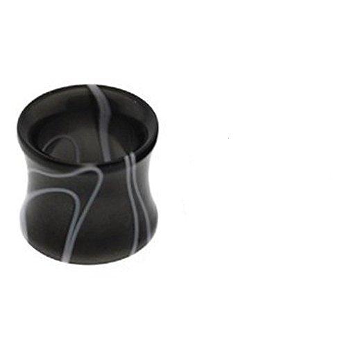 6mm Black Marble Swirl-Rauch-Effekt Öl Acryl Ohr-Stecker-Tunnel Piercing Sattel edelsten Materialien (Öl-swirl)