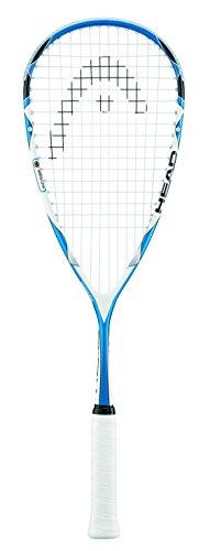 Head Microgel 125 - Raqueta de Squash (tamaño 100), Color Azul y Blanco