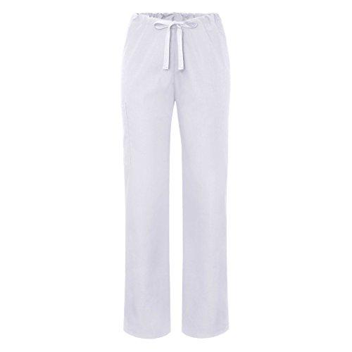 Adar Universal Unisex Natural-Rise Drawstring Tapered Leg Pants - 504 - White - ()