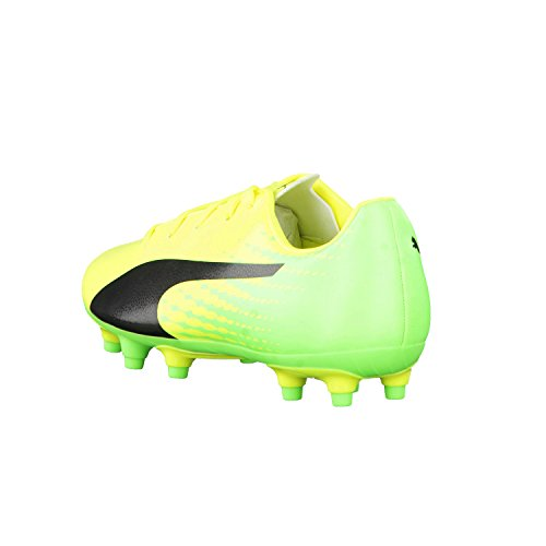 Puma Evospeed 17.5 Fg Jr, Chaussures de Football Mixte Enfant Safety Yellow-Puma Black-Green