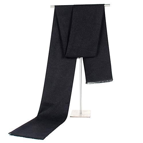 Classic Business Casual Zwei-Farben-Dual-Use-Herren-Schal Mittleren Alters Imitation Cashmere Warmen Schal,Blackred