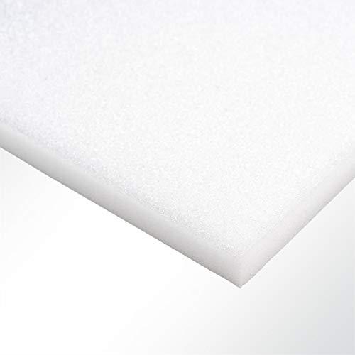 Plastazote® LD29 Polyethylen PE Schaumstoff Hartschaumstoff weiß 100x50x1,5cm