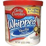 Betty Crocker Whipped Frosting -Vanilla- 340 Gram Can