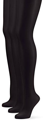 Nur Die Damen Strumpfhose 726969/3er Pack Seidenfein, 15 DEN, Gr. 44 (Herstellergröße: M (40-44)), schwarz (schwarz 094)