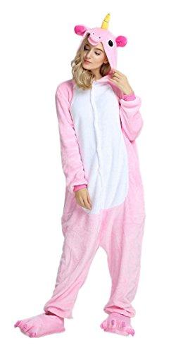 Bienbien unicorno pigiama unisex adulto cosplay halloween costume anime festa sleepwear jumpsuit monopezzi tuta intera flanella animale kigurumi donna uomo ragazza regalo di natale compleanno