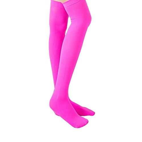 Strümpfe, BZLine® Frauen Über Knie Hoch Temptation Stretch Nylon Socken (Hot Pink) (Hot Socken Knie-hohe Rosa)