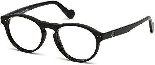 MONCLER Unisex Adults' ML5022 Optical Frames, Black (Nero Lucido), 51.0