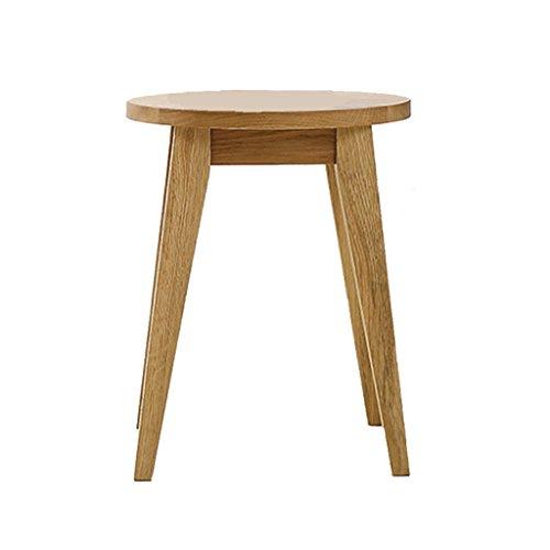 SUBBYE Chaises Banc En Bois Massif Chêne Europe Du Nord Tabouret Rond Simple Salon Table Basse Tabouret Bas