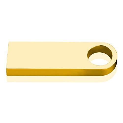 Zmsdt USB-Flash-Laufwerk 64 GB 32 GB 16 GB 8 GB 4 GB Pen Drive Wasserdichtes Metall Silber U Disk USB Geschenk (Farbe : Gold, größe : 32GB)