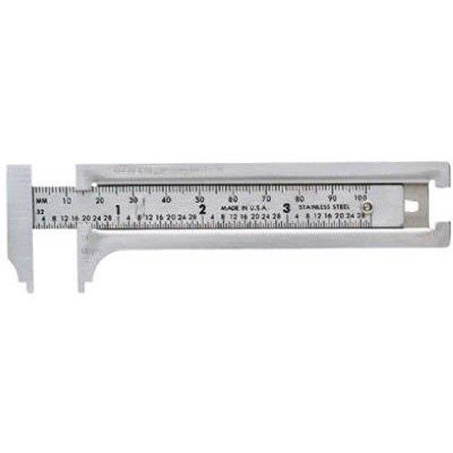 General Tools 3-Zoll-Englisch und metrische Tasche Schiebeleiste Caliper (132ME) -