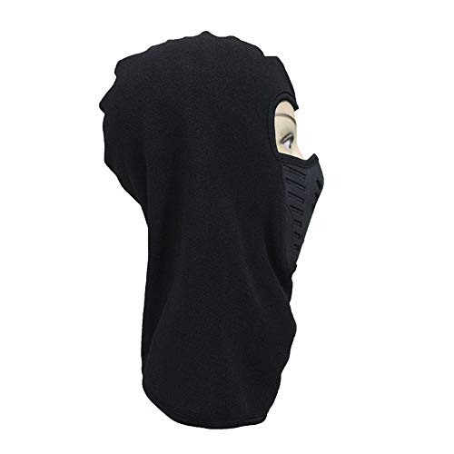 wangjian& Masked Cap Riding Mask Cap Verdickung Fleece Hut Bib Warm und Windproof Maske, schwarz - Schwarze Fleece Bibs