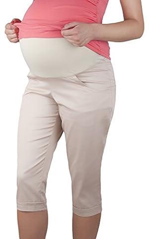 Pantalon capri - style 3/4 pour l'été - grossesse - Beige - 40
