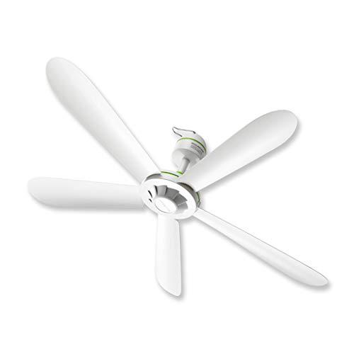 XUANLAN Modernes leises Lüfterlicht Großer Wind Kleiner Deckenventilator Home Fünfflügelventilator 70CM, Weiß Stabil (Outdoor Ohne Licht Deckenventilator)