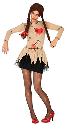 Fancy Me Sexy Voodoo-Puppe für Damen, Halloween, Horror/Karneval, Gruselig, Gruselig, Kostüm, Outfit, UK - Sexy Voodoo Puppe Kostüm
