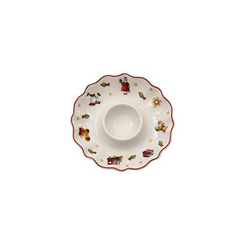 Villeroy & Boch Toy's Delight Coquetier, Porcelaine Premium, Blanc/Rouge/Doré