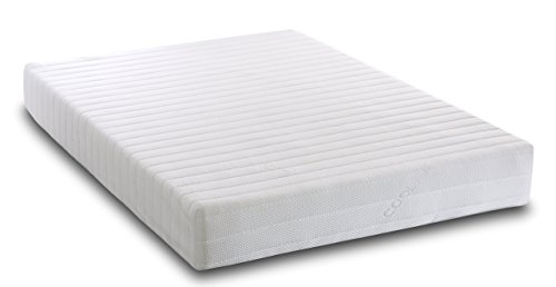 Visco Therapy Memory Foam and Reflex 3 Zone Rolled Mattress with Quilted Maxi-Cool Cover and 2 Pillows – Double
