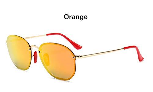 Sonnenbrille Retro Kleine Sechseckige Polarisierte Sonnenbrillen Männer Im Freien Treibenden Gläser Spiegel Sonnenbrille Frauen Einzigartige Brillen Vu 400 Orange Rot Spiegel