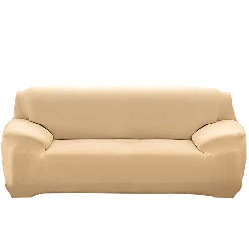LINGKY Sofabezug, Ausziehbarer Sofabezug Mit Armlehnen Bequemer Sofabezug Für Das Schlafzimmer Im Wohnzimmer (Beige,1 Sitzer/Stuhl)