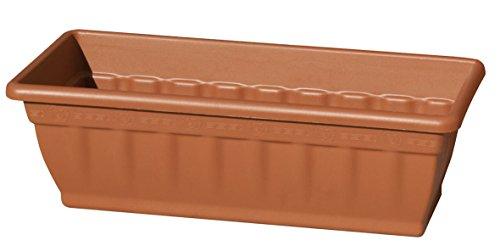 Balkonkasten/Blumenkasten/Blumenkübel aus Kunststoff, rechteckig, Farbe: Terrakotta Maße: ca. 50x20x16cm