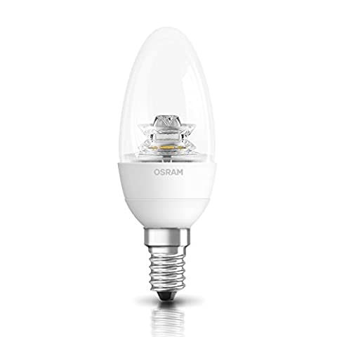 OSRAM LED SUPERSTAR CLASSIC B DIMMABLE / lamp with screw base: E14, Dimmable, 6 W, 220…240 V, 40 W replacement, clear, Warm White,