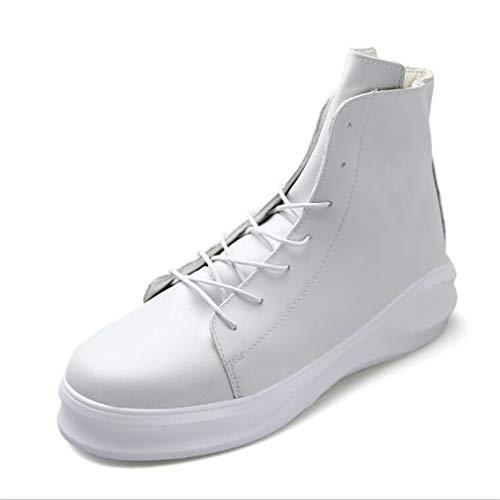 Womens Casual Deck-schuh (Herrenschuhe Herbst Winter High-Top-Sneaker/Männer dicken Boden Persönlichkeit Akademie Deck Schuhe/Lace-Up Casual Schuhe (Farbe : EIN, Größe : 43))
