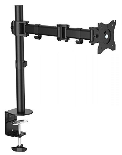 RICOO Monitor Tischhalterung für Monitore Monitorhalterung TS5711 Universal Monitorständer Schwenkbar Neigbar Höhenverstellbar Schreibtisch Bildschirmständer Bildschirm Tisch Ständer Monitorhalterungen VESA 75x75 100x100 / Schwarz (22 Monitor Mit Display Port)