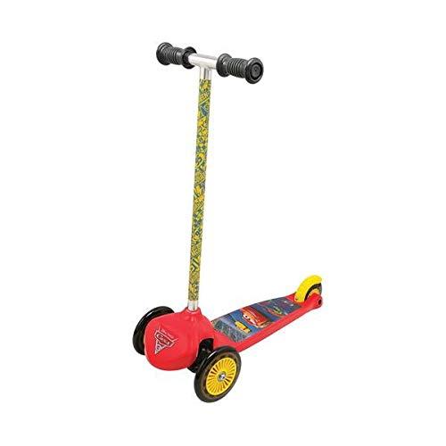 Smoby- Monopattino 3 Ruote Twist Disney Cars, Colore Rosso/Giallo, Norme, 7600750214