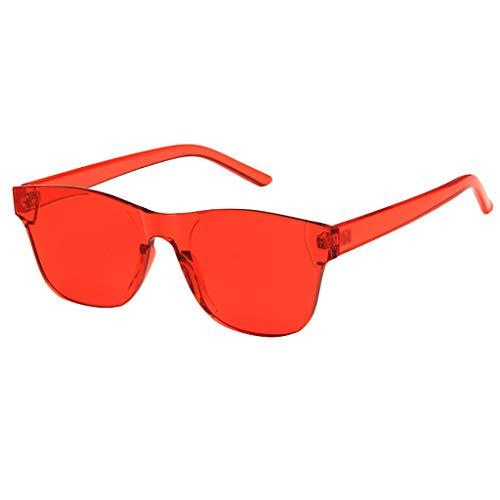 Whycat sonnenbrille damen Cateye Sonnenbrille Einteilige, herzförmige, randlose Sonnenbrille Transparente, bonbonfarbene Brille(EIN)