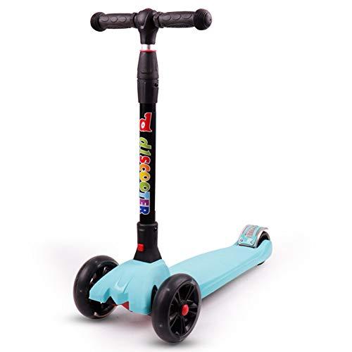 DQZ Roller der Kinder 3-14 Jahre altes Allrad-faltendes Roller-Spielzeug der Kinder,Blue