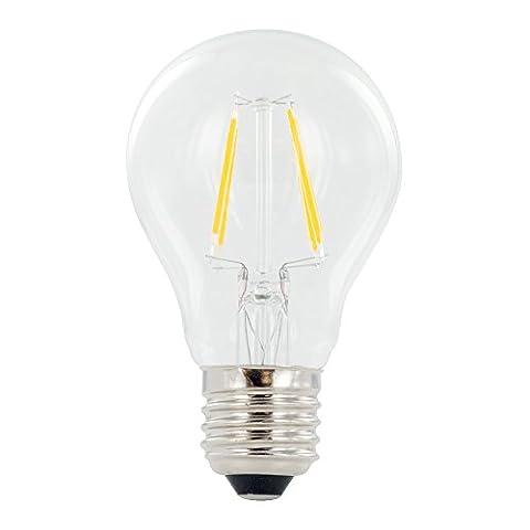 Que ledsla60–01–1373–92Classic Globe Filament Technologie non dimmable chaud Ampoule lumière avec Super Grand Angle de faisceau 300°, en verre, E27, 4W, 2700K, 470lm