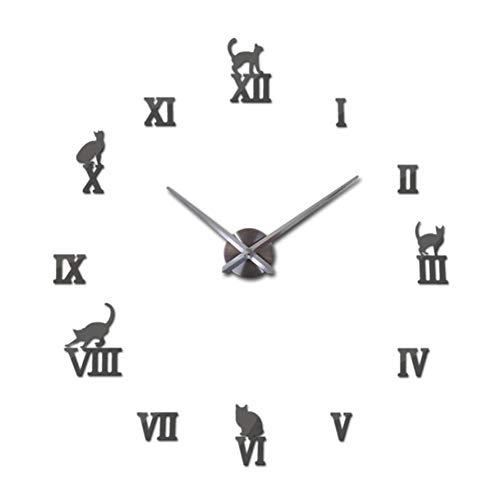 WENZIMENG Uhr Uhren Hauptdekoration Acryl Große Wandaufkleber Quarz Modern Metal, J