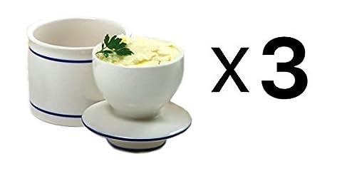 Norpro Stoneware Butter Dish/Crock Keeps Fresh 4