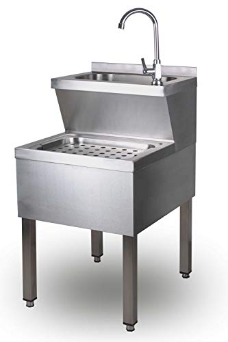 Handwaschbecken Ausgu/ßbecken Waschbecken Ausguss 50 x 60 x 85 cm Edelstahl