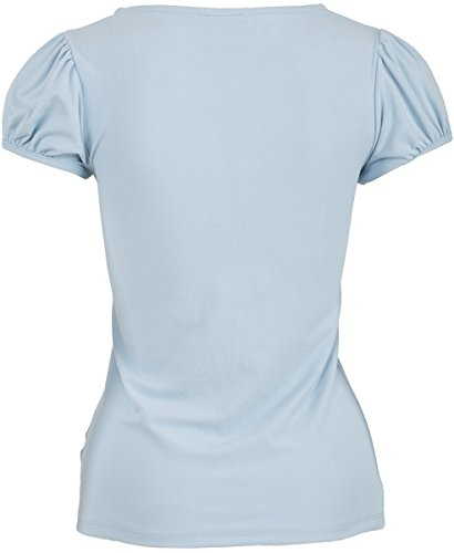 Küstenluder CHARLSIE Nostalgic Polka Dots TULLE Vintage Pin Up Shirt Rockabilly - 4