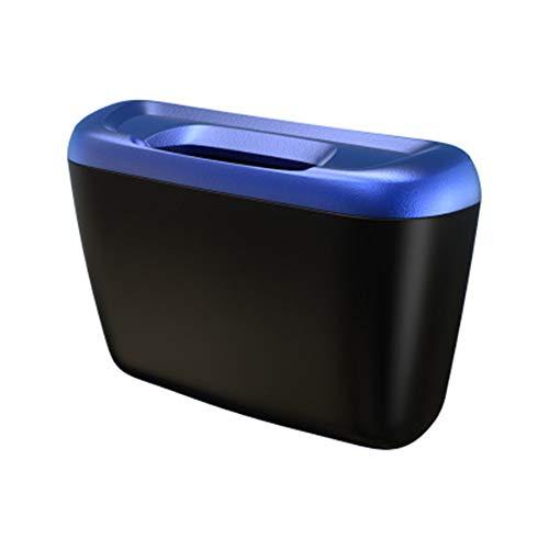 Merssavo Multi-Fonction Poubelle De Voiture Poubelle Latérale De Porte De Véhicule Automatique Peut ABS Voiture Accessoires Poubelle Mini Boîte De Stockage De Débris Seau avec Couvercle(Bleu)