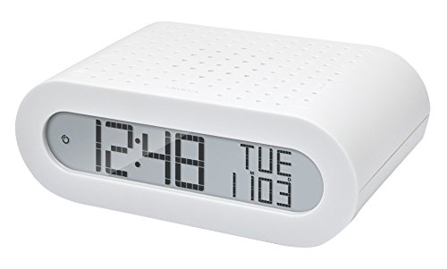 Oregon Scientific RRM116 - Reloj despertador digital clásico con radio FM, blanco