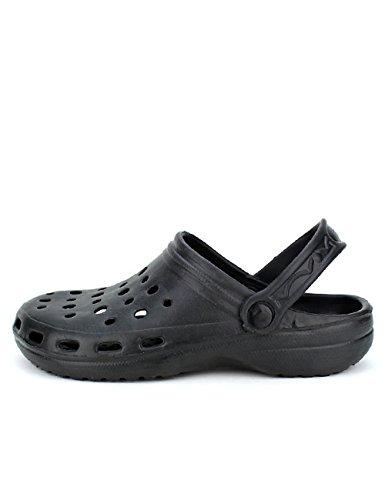 Cendriyon Sabots Plastiques Noires Pops Chaussures Femme