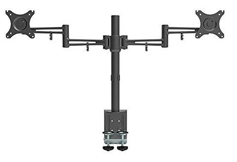 Bramley Power Support pour bureau à bras pour écran LCD LED , très solide et léger en aluminium moulé sous pression Supporte les moniteur allant jusqu'à 30