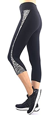 Neonysweets Womens Running Yoga Pants Active Tights Capri Workout Leggings