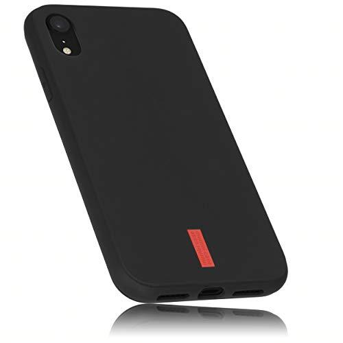 mumbi Schutzhülle kompatibel mit iPhone XR Hülle mit rotem Streifen