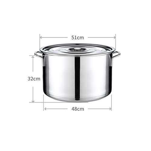 WEIFAN-Kitchen Pot Cubo de Acero Inoxidable Tambor Espesado Olla de Sopa de...