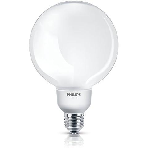 Philips Softone Bombilla globo de bajo consumo - Lámpara (Globe, Color blanco, Blanco cálido, 10 - 100, A)