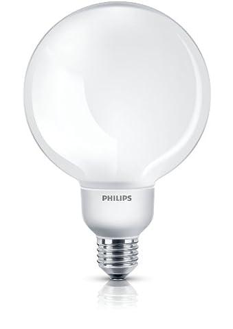 Philips Softone Compact Fluorescent Globe 20 W E27 Edison Screw Warm White Light Bulb (85 W Equivalent, 10,000