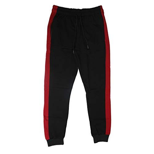 Herren Jogging Hose Jogger Streetwear Sporthose Streifen Trainingshose Attack Elastische Taille mit Taschen (Drawstring-tasche Trainingshose)